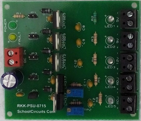 power supply unit voltage regulators circuit board